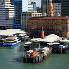 Picture - The ferry dock area of Auckland.