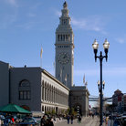 Picture - Ferry Building at the end of Market Street in San Francisco.