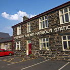 Picture - Ffestiniog railway harbor station.