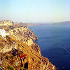 Picture - Cliffs in Fira (Thira) on Santorini (Sandorini) island.