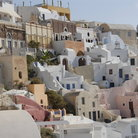 Picture - White houses and stairs in Fira.