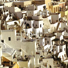 Picture - Dense housing at Thira, Santorini.