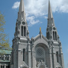 Picture - The neo-Romanesque Cathedral of Ste-Anne de Beaupre.
