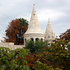 Picture - Towers of the Fishermen's Bastion in Budapest.