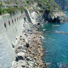 Picture - Wall along the ocean at Cinque Terra.