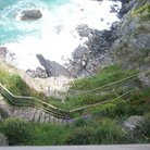 Picture - Stairs to the sea in Cinque Terra.