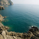 Picture - The coastline of Cinque Terre.