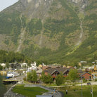 Picture - View over the town of Flam.