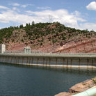 Picture - The dam at Flaming Gorge National Recreation Area`.