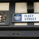 Picture - A sign for Fleet Street in London.