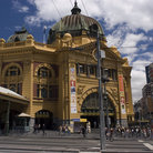 Picture - Entrance to Flinders Street Station in Melbourne.