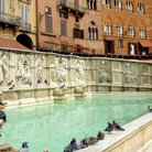 Picture - The ornate Gaia Fonte in Siena.