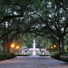 Picture - Fountain in Forsyth Park, Savannah.