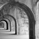 Picture - Arches in the Fort de la Bastille at Grenoble.