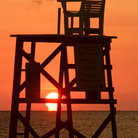 Picture - Lifeguard chair at Fort Desoto State Park.