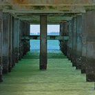 Picture - View from underneath the pier, Fort DeSoto Park.