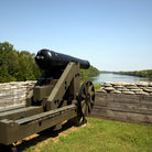 Picture - Confederate cannon at Fort Donelson National Battlefield.