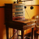 Picture - An antique telephone switchboard at the Fort Edmonton Park.