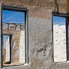 Picture - Looking through old windows at Fort Laramie.