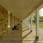Picture - Walkway and grounds at Fort Larned National Historic Site.