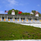 Picture - Various country flags at Fort Mackinac.