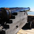 Picture - An old canon at Fort Matanzas in St Augustine.