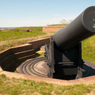 Picture - A cannon at the Fort McHenry National Monument and Historic Shrine in Baltimore.