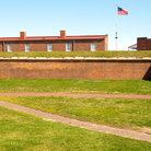 Picture - Defensive wall at the Fort McHenry National Monument and Historic Shrine in Baltimore.