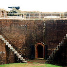 Picture - Ramparts of Fort Morgan begun in 1819 and completed in 1834 in Mobile.