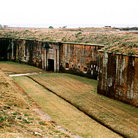 Picture - Moat of Fort Morgan in Mobile.