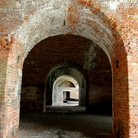 Picture - An arch and tunnel at Fort Morgan.