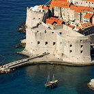 Picture - View over the imposing Fort St John in Dubrovnik.