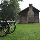 Picture - Cabin and cannon at Chickamauga National Military Park.