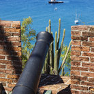 Picture - Canon in wall at the Fort Oranje in Oranjestad.