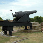 Picture - Civil war cannon, Fort Pulaski, Savannah.