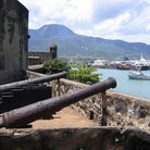 Picture - Canons along the wall of Fort San Felipe in Puerto Plata.