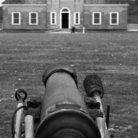 Picture - Old canon and building at Fort Snelling in St Paul.