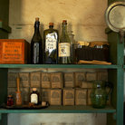 Picture - Interior of an old store at Fort Snelling, St Paul.