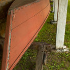 Picture - Boat stored at Fort Snelling.