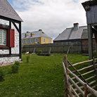 Picture - Buildings at the reconstructed site of Louisbourg.