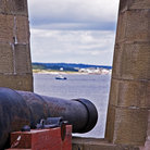 Picture - Canon at the French built colony of Louisbourg.