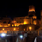 Picture - Trajan's Market at night in Rome.