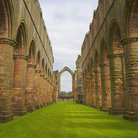 Picture - Fountains Abbey gothic ruins.