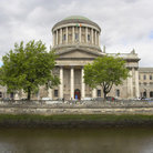 Picture - The Four Courts along the River Liffey in Dublin.