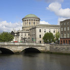 Picture - Bridge in front of the Four Courts in Dublin.