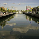 Picture - River Liffey in Dublin.