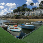 Picture - The the estuary of the River Fowey at the town of Fowey.