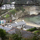 Picture - View over Readymoney Cove in Fowey.