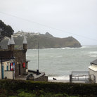 Picture - Looking out from Readymoney Cove in Fowey.