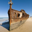 Picture - The Maheno shipwreck on Fraser Island.